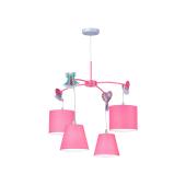 Lampa Żyrandol SWETTY 4xE14 40W różowy