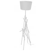 Lampa podłogowa GLENN 162cm biała metal