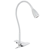 Lampa biurkowa EVENING LED 45cm klips biała
