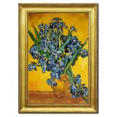 Kopia 75x105cm VAN GOGH ręcznie malowana na płótnie, oprawiona w złotą ozdobną ramę