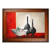 Obraz 82x112cm NOWOCZESNOŚĆ ręcznie malowany na płótnie