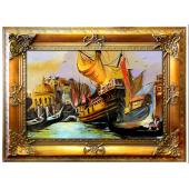 Obraz 92x120cm MAGICZNA WENECJA ręcznie malowany na płótnie