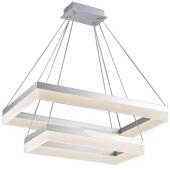 Lampa wisząca RING LED 60cm 36W 51W metal szkło