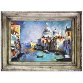 Obraz 86x116cm MAGICZNA WENECJA ręcznie malowany na płótnie