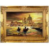 Obraz 90x120cm MAGICZNA WENECJA ręcznie malowany na płótnie