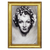 Obraz 75x105cm MARLENA DIERICH ręcznie malowany na płótnie, oprawiony w złotą ozdobną ramę