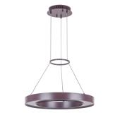 Lampa wisząca KARPO LED 60,5cm brązowa żyrandol