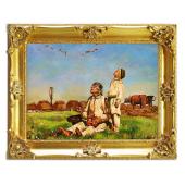 Kopia 75x95cm CHEŁMOŃSKI ręcznie malowana na płótnie