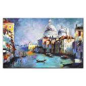 Obraz 200x125cm MAGICZNA WENECJA ręcznie malowany na płótnie
