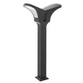 latarnia ogrodowa Ip44 VALENCIA 100cm 2023-2/100/GY-5 italux szara 2x E27 na alejkę ścieżkę ogrodową