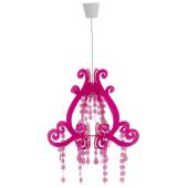 Lampa żyrandol PRINCES różowa 45cm E27 dla małej dziewczynki
