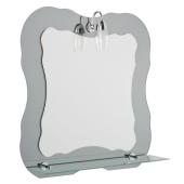 Lustro JULES 60x60cm półka oświetlenie grubość szkła 4mm