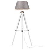 Lampa sztalugowa FARO do salonu trójnóg podłogowa stylowa