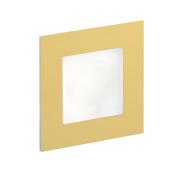 Oświetlenie schodowe LED Angel podtynkowe szczotkowane złoto