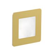 Oświetlenie schodowe LED Diora podtynkowe szczotkowane złoto
