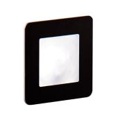 Oświetlenie schodowe LED Diora podtynkowe szczotkowane czarne