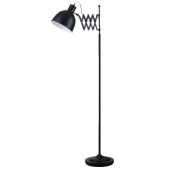 Lampa podłogowa TALARO 150cm czarny metal E14 40W
