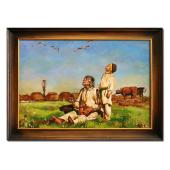 Kopia 75x105cm CHEŁMOŃSKI ręcznie malowana na płótnie