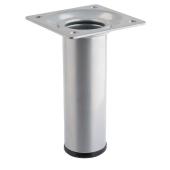 Noga meblowa BERTA 10x3cm metalowa srebrna