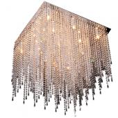 Lampa plafon EUPHORIA 60cm chrom kryształki G9 28W