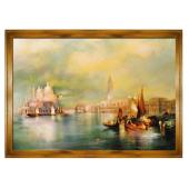Obraz 200x140cm MAGICZNA WENECJA ręcznie malowany na płótnie