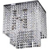 Lampa plafon EUPHORIA 40cm chrom kryształki E14 40W