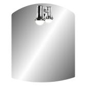 Lustro z półką EVELLYN 50x40cm grubość szkła 4mm oświetlenie