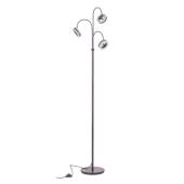 Lampa podłogowa METIS LED 167cm brązowa ruchome klosze