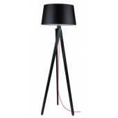 Lampa podłogowa RUNE 155cm czarne drewno