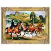 Kopia 63x84cm KOSSAKOWIE ręcznie malowana na płótnie