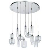 Lampa wisząca LARISSA 65cm G9 12x40W chrom szkło