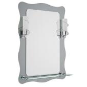 Lustro FAJE 80x56cm półka oświetlenie grubość szkła 4mm