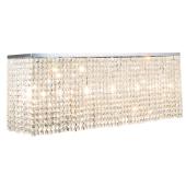 Lampa plafon EUPHORIA 110cm chrom kryształki E14 40W