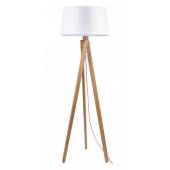 Lampa podłogowa RUNE 155cm dąb biały klosz