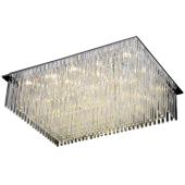 Lampa plafon EUPHORIA LED 80cm chrom kryształki