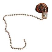 Wyłącznik pociagany łańcuszkowy zakres obciążenia 600W srebrny