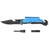 nóż multinarzędzie krzesiwo latarka  ostrze 9cm