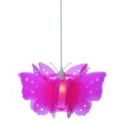 Lampa żyrandol Butterfly różowy 40cm E27 dla małej dziewczynki