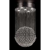 Lampa wisząca LUCID 40cm chrom/kryształ Italux