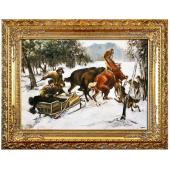 Kopia 70x90cm ATAK WILKÓW ręcznie malowana na płótnie