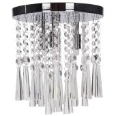 Lampa plafon LUXORIA 25cm chrom kryształki