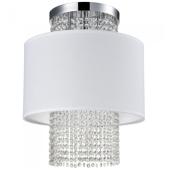 Lampa plafon WATERFALL 40cm kryształki chrom