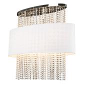 Lampa plafon WATERFALL 80cm kryształki chrom