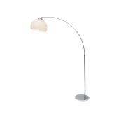 Lampa podłogowa stojąca SIMON 1XE27 60W chrom/biały