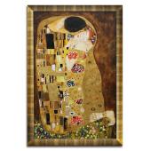 Kopia 87x130cm GUSTAV KLIMT ręcznie malowana na płótnie, oprawiona w złotą ozdobną ramę