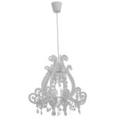 Lampa żyrandol PRINCES biała 45cm E27 dla małej dziewczynki
