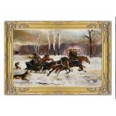 Kopia 75x105cm ATAK WILKÓW ręcznie malowana na płótnie