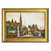 Obraz 75x105cm OSTRÓW TUMSKI ręcznie malowany na płótnie