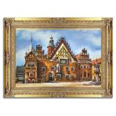 Obraz 90x120cm RATUSZ WROCŁAWSKI ręcznie malowany na płótnie