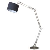Lampa podłogowa MIRANI wysokość 220cm czarna chrom 60W E27